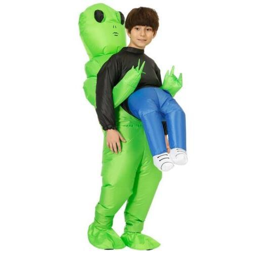 Adult Inflatable Green Alien & Me Halloween