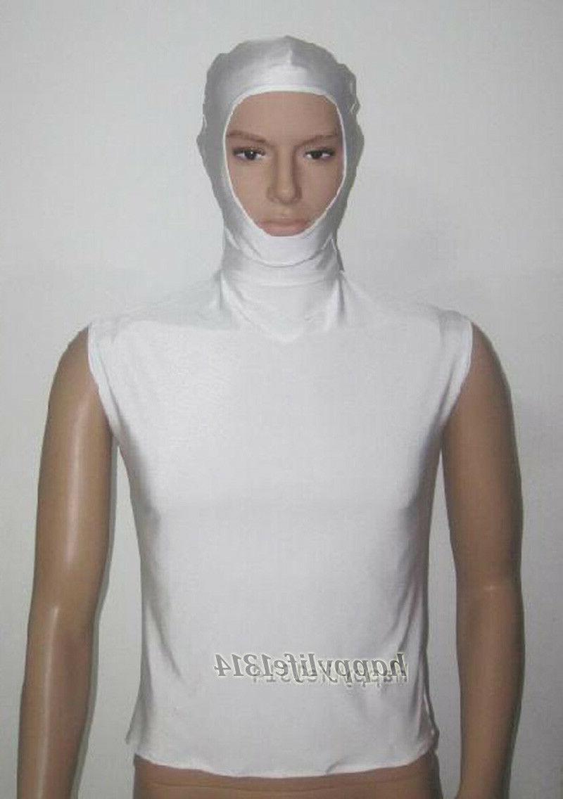 adult kids spandex zentai costume white helmet