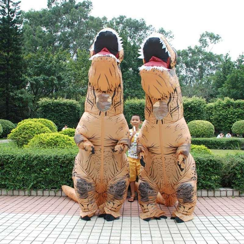 Adults Inflatable Dinosaur Costume Dress Blowup Outfits US