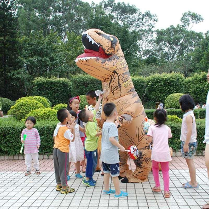 Adults Inflatable T-REX Costume Funny Halloween Blowup