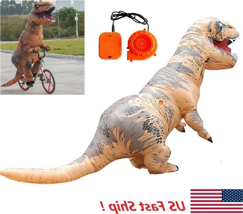 adults inflatable t rex dinosaur costume funny