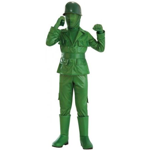 Plastic toy army man costume