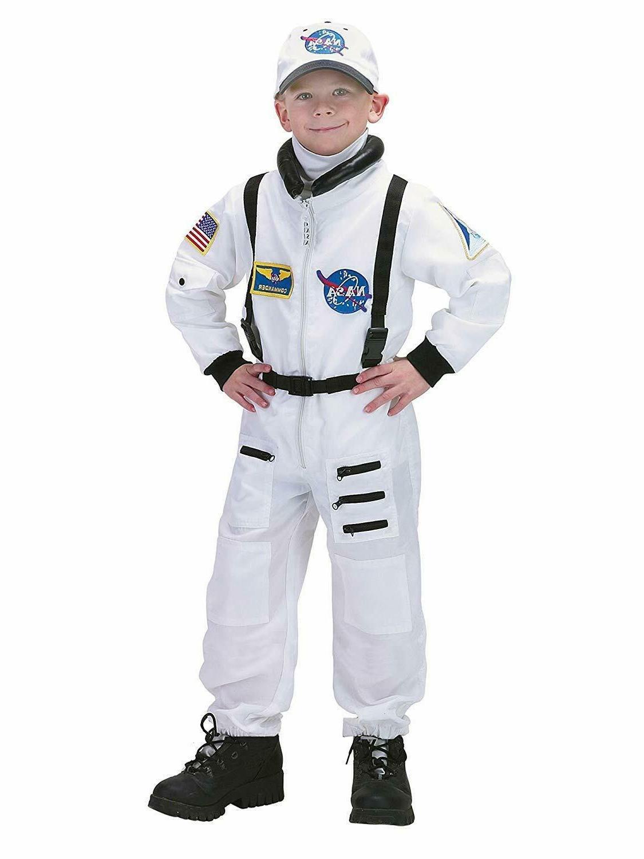Charades Astronaut Flight Suit NASA White Childrens Hallowee