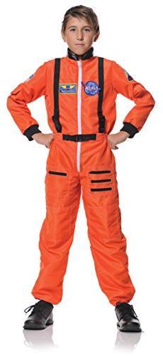 Underwraps Kid's Astronaut, Orange, Large