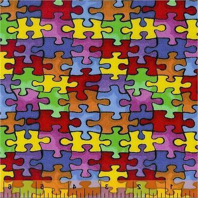 autism fabric bty autism awareness 19596 puzzle