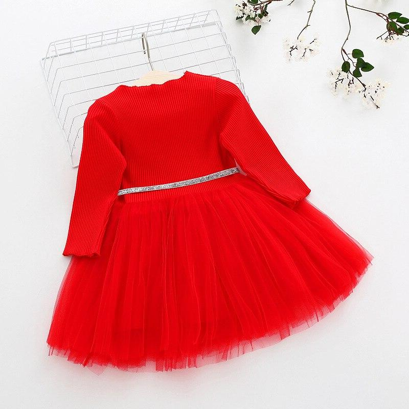Baby Girls Sweater <font><b>Dress</b></font> With Christmas <font><b>Costume</b></font> Children Toddler for