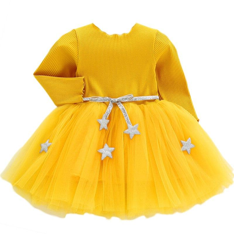 Baby With Star Infant Christmas Children Toddler <font><b>Dresses</b></font> Clothes for 1-5
