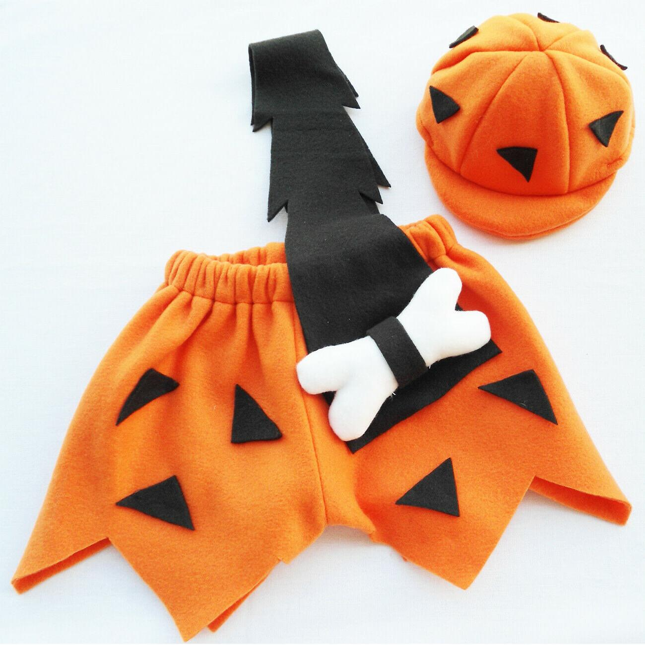 bambam flintstone boys halloween costume 3 piece