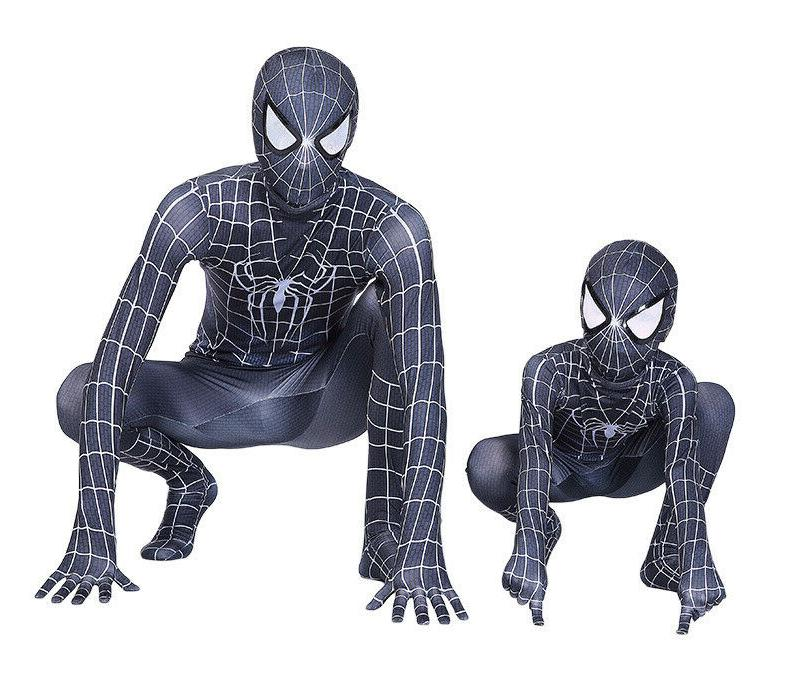 Black Venom Costume Suit Jumpsuit