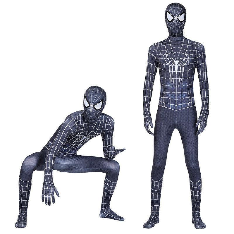 Black Venom Costume Kids Suit Jumpsuit