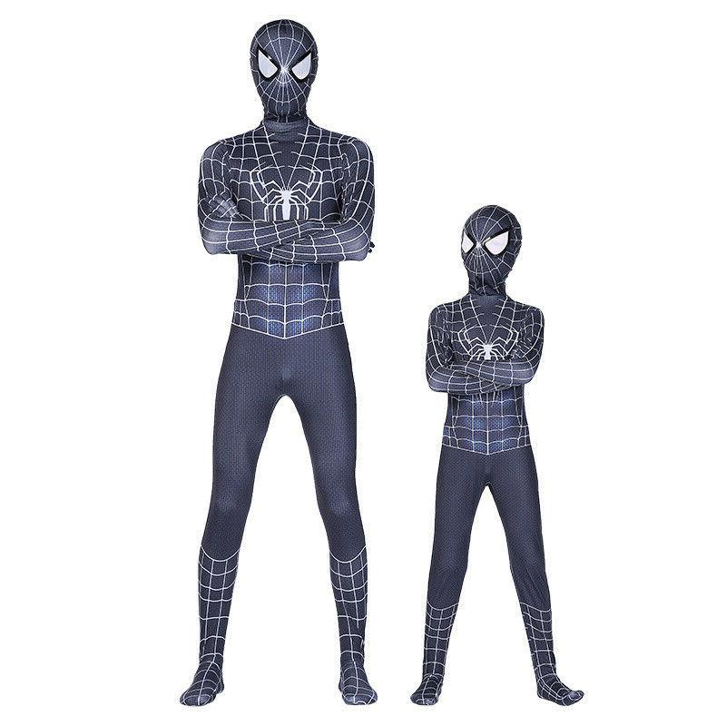 black venom spider man cosplay costume kids