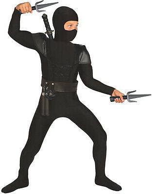 boys black ninja costume accessories 8 piece