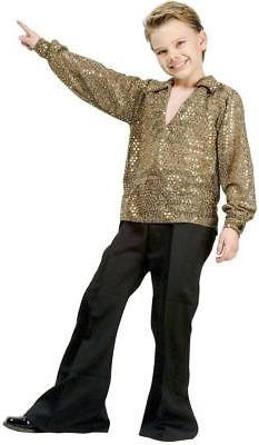 Boys Disco Fever Gold Kids Costume size Medium 8-10 by RG Co