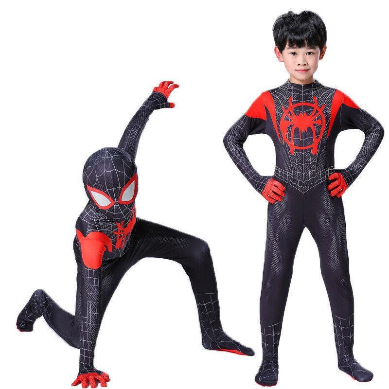 boys kids children spiderman costume cosplay fancy