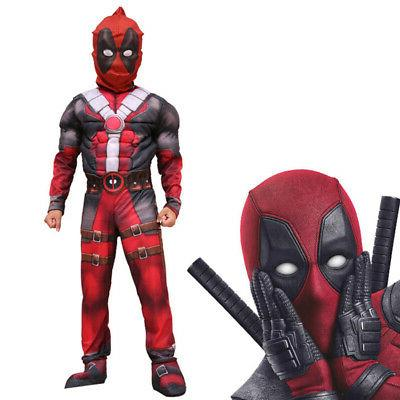 Boys Super Deadpool Costume Party Fancy US