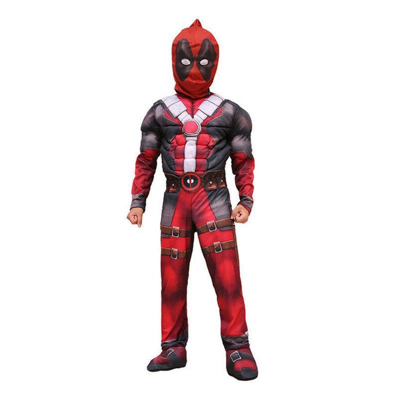 Boys Super Hero Deadpool Jumpsuit Costume Party US