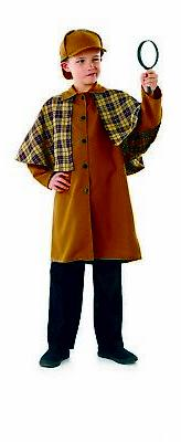 Boys Victorian Detective Costume Kids Historical Sleuth Fanc