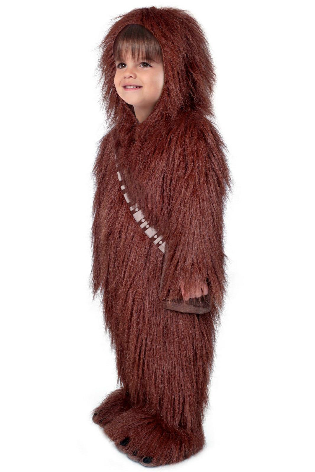 Chewbacca Wookie Chewie Deluxe Star Kids Child Costume 4T 3 4