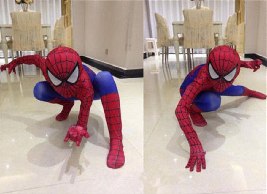 Children Christmas Spiderman Costume Cosplay