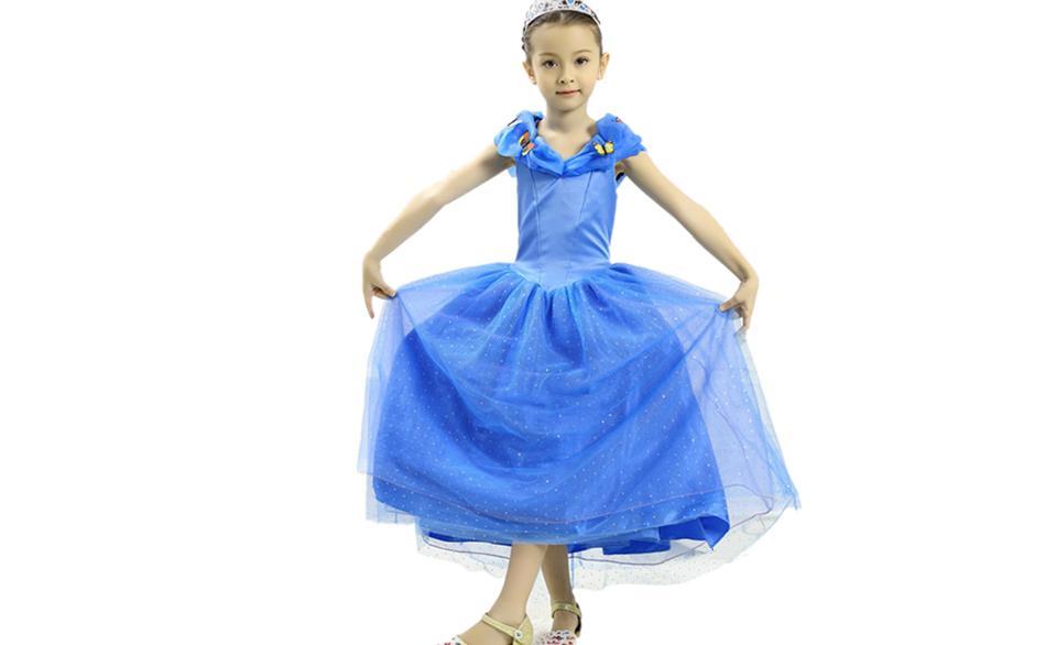 Cinderella Princess Dress kids Costume for girls Y