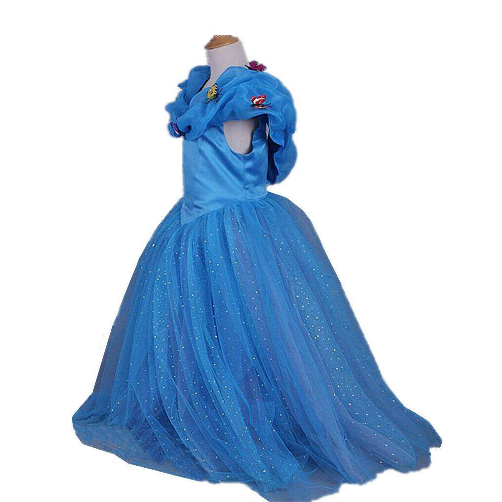 Cinderella Princess Party Dress kids Dress for
