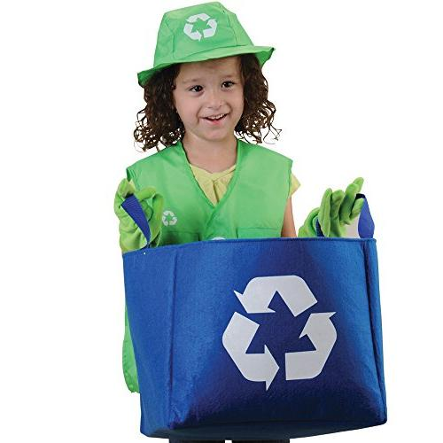 classroom career outfit for kids recycle worker