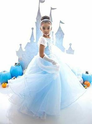 Comfortable in Cinderella-style costume