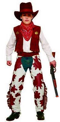 Cowboy Kid Boys Child Western Bandit Rancher Halloween Costu