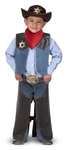 Melissa & Doug Cowboy Role Play Costume Set  - Includes Faux