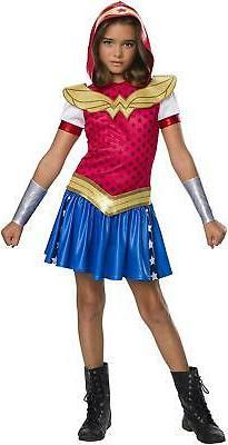 DC Superhero Girls Wonder Woman Child's Costume Hoodie Dress