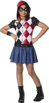 DC Superhero Girls Harley Quinn Child's Costume Hoodie Dress