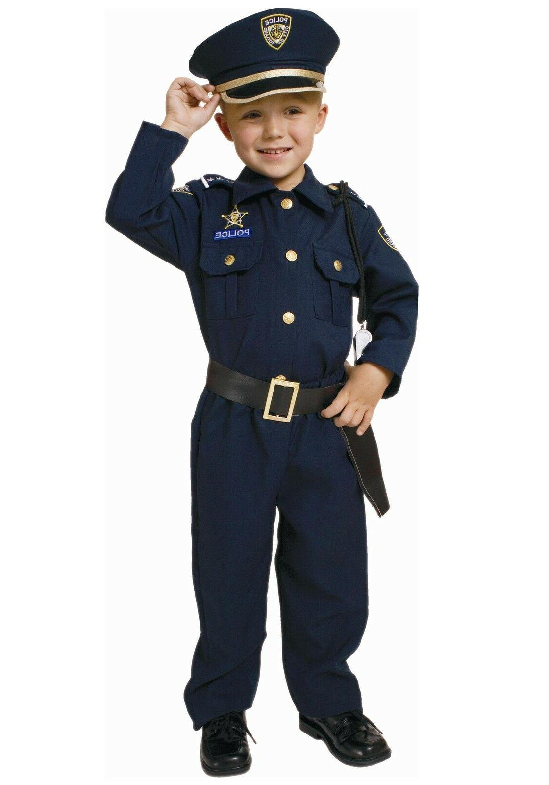 deluxe police officer child costume