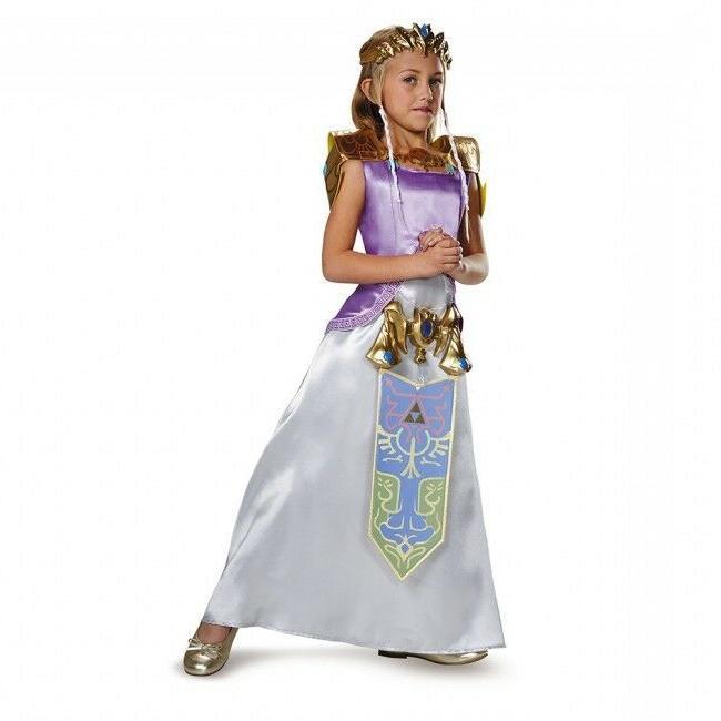 Nintendo Legend Zelda Girl's Deluxe Zelda Costume  