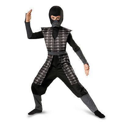Evil Black Ninja Warrior Night Furry Delxue Child Costume |