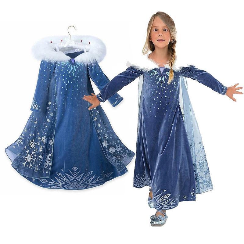 <font><b>Girls</b></font> elsa <font><b>new</b></font> snow for kids cosplay <font><b>dresses</b></font> princess disfraz carnaval de festa