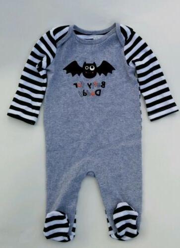"Baby Boy Girl Koala Kids 0-3 Months Footed Sleeper ""Batty fo"