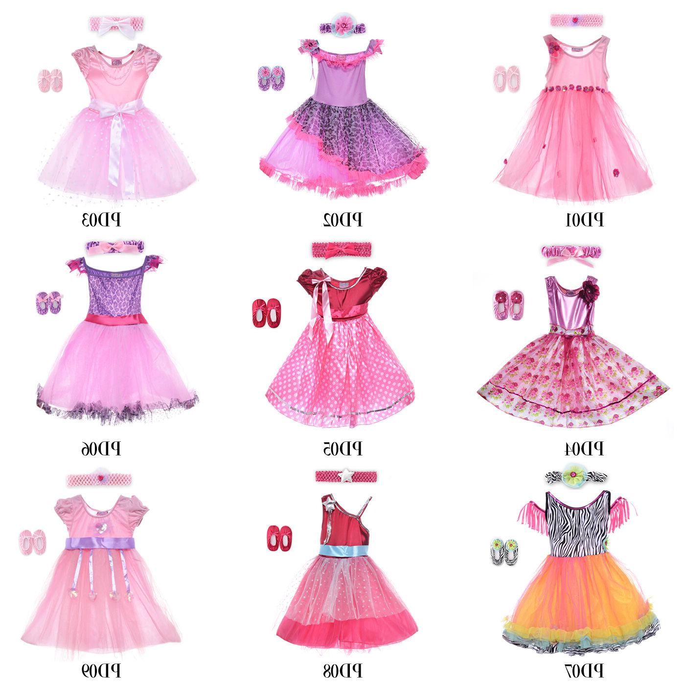 HBB Kids Girl's Princess Dress Up Dance Costume With Headban