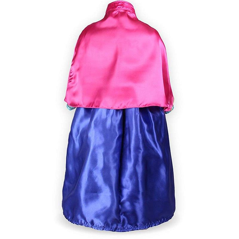 Girls Anna <font><b>Dress</b></font> with Snow Clothes Birthday Party