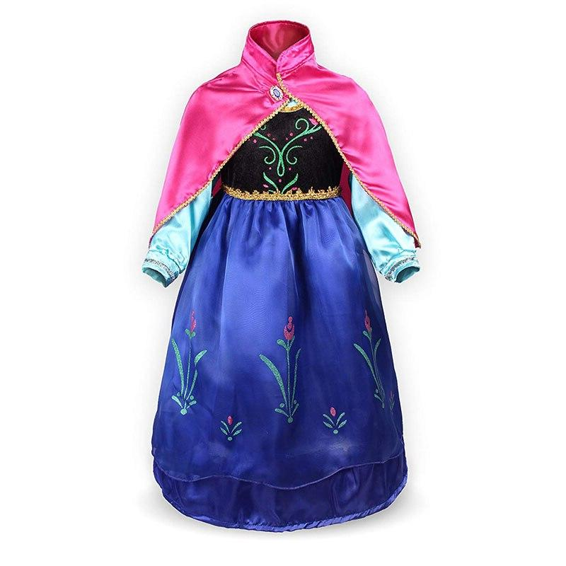 Girls <font><b>Dress</b></font> <font><b>Costume</b></font> Gloves Crown Children Snow Clothes Halloween Birthday