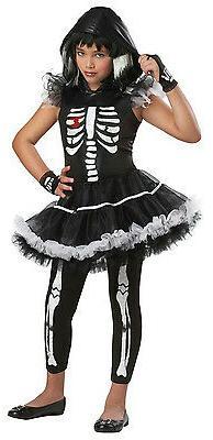 Girls California Costumes Skela-Rina Skeleton Ballerina Chil