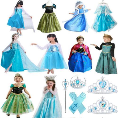 Girls Princess Dress Costume Fancy