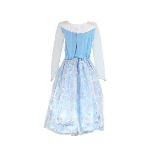 Girls Frozen Elsa Anna Princess Costume Party