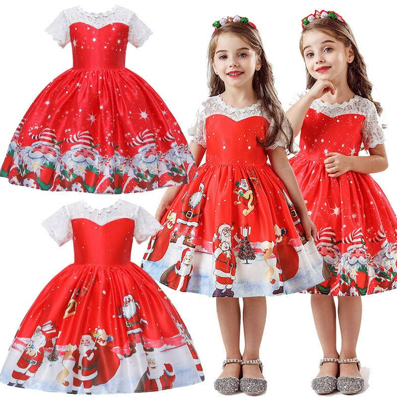 Swing Dress Santa Party Costume Tutu US