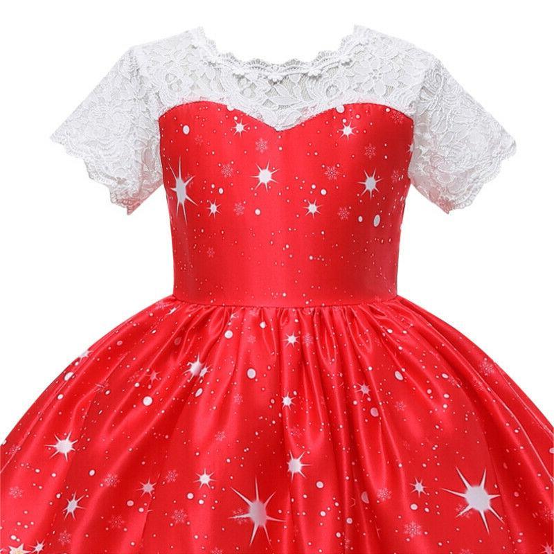 Girls Swing Dress Santa Party Costume Dresses US