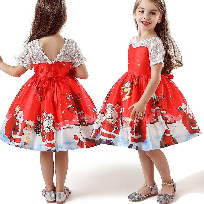 Girls Kids Swing Dress Party US