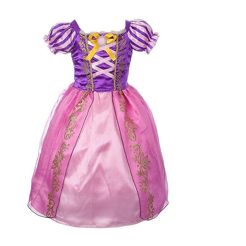 Girls Rapunzel <font><b>kids</b></font> Summer With Birthday Cosplay <font><b>Dress</b></font>