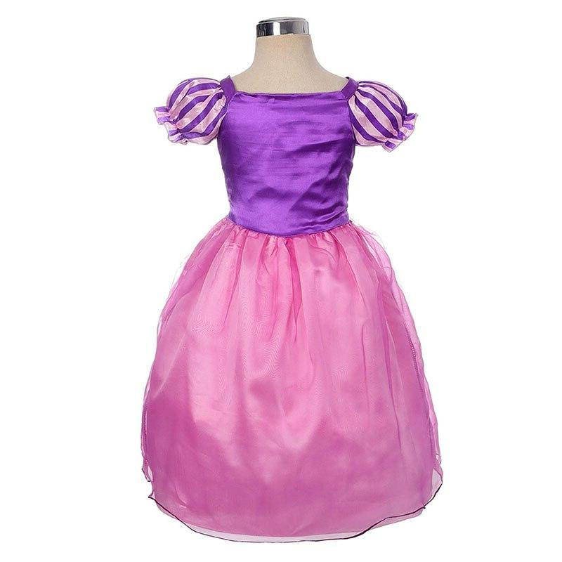 Girls Rapunzel <font><b>Dress</b></font> <font><b>kids</b></font> With Wig Birthday Carnival