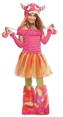 Girls Wild Child Monster Costume sz Large 12-14