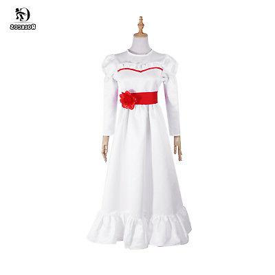 Halloween Costume The Conjuring Annabelle Creation Dress Adult