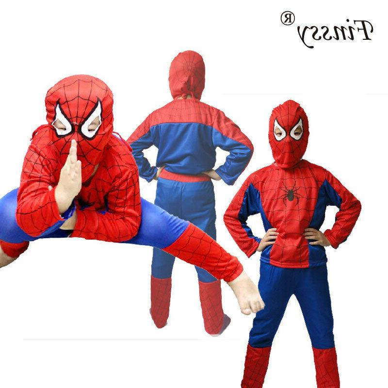 Halloween Baby Kids Boy Spiderman Superhero Cosplay